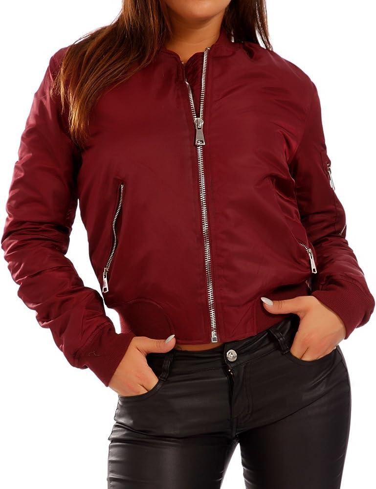 klare Textur feinste Auswahl Vielzahl von Designs und Farben Damen Bomber Jacke leicht gefüttert Jacke Übergang Blouson Herbst Winter  Freizeit