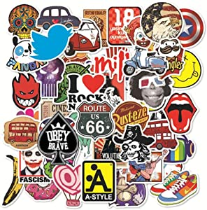 Graffiti Stickers Pack 100-Pcs Decals for Cars Motorcycle Portable Luggages Phone Laptops Waterproof Sunlight-Proof for Adult