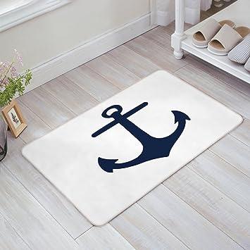 Amazon.com : Indoor Doormat Stylish Welcome Mat Nautical Navy Blue ...