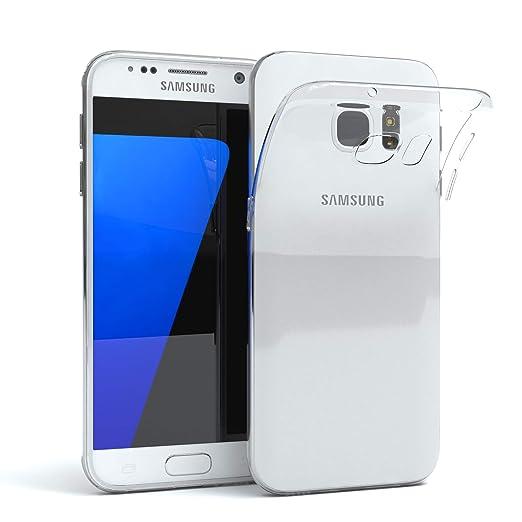 EAZY CASE Hülle für Samsung Galaxy S7 Schutzhülle Silikon, Ultra dünn, Slimcover, Handyhülle, Silikonhülle, Backcover, Durchs