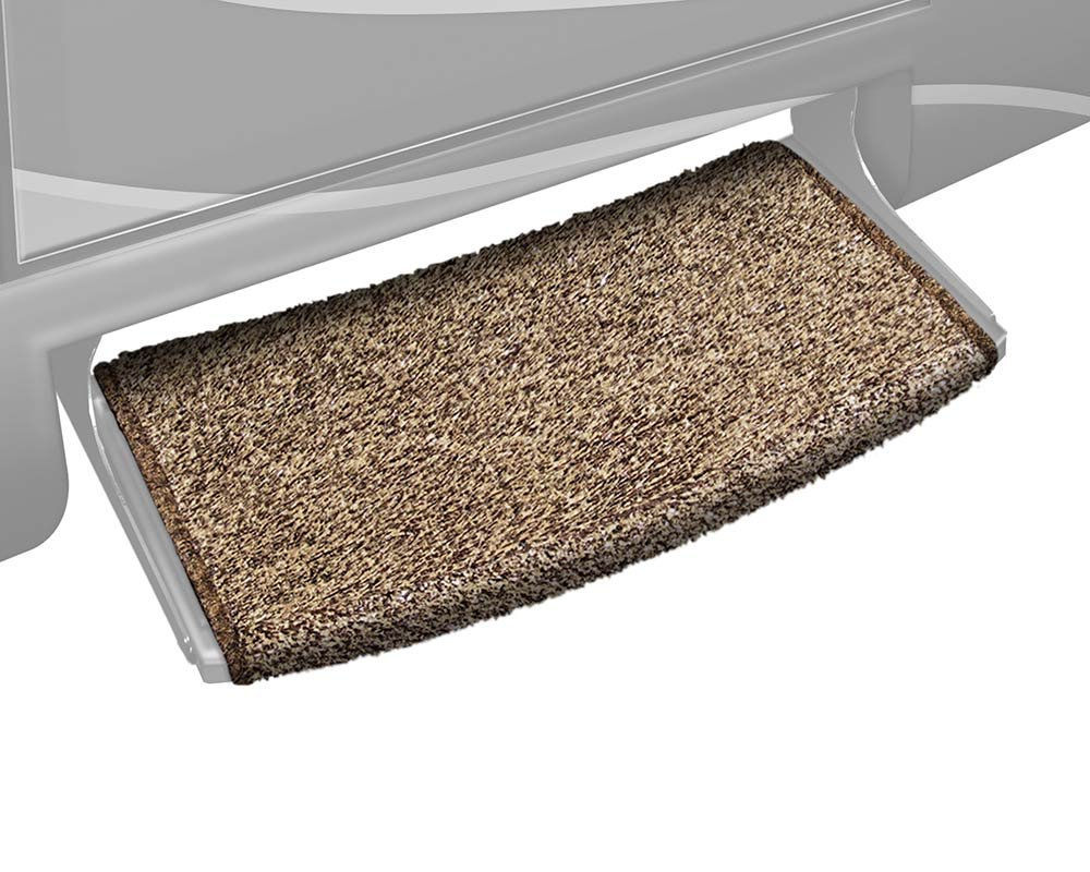 Prest-O-Fit 2-0206 Wraparound Radius RV Step Rug Stone Gray 22 In. Wide