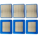 6PC SEPC Air Filter B&S 399959 ; 491588 ;491588S ;4101;5043B;5043D;5043H;5043K; Fits models 112200, 12A800-12T899, 92200…
