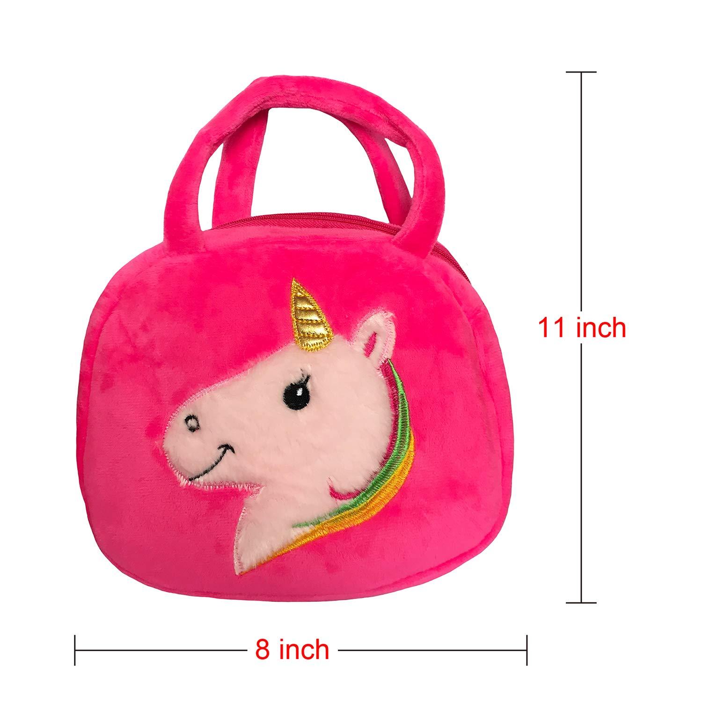 Elesa Miracle Kids Little Girl Unicorn Plush Handbag Unicorn Jewelry Playset Value Set
