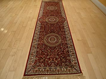 Stunning Silk Persian Area Rugs Traditional 2x8 Silk Rug Hallway Red Rugs  2x7 Runners For Kitchen