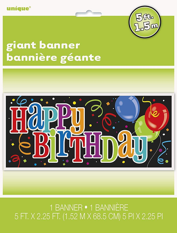 60 x 27 Happy Birthday Wall Banner