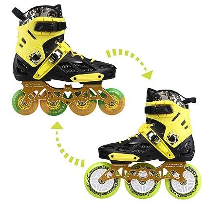 kuxuan Unisex adultos 2 en 1 versátil patines en línea con conmutable – Juego de ruedas