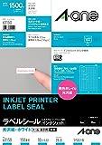 エーワン ラベルシール インクジェット 光沢紙ラベル 150面 10枚 63150