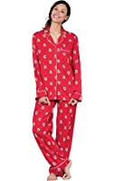 PajamaGram Women's Holiday Pajamas With Button-Up Top