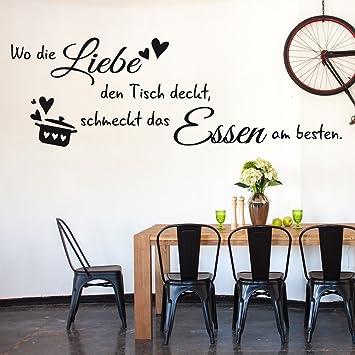Wandtattoo Wandaufkleber Tattoo Sprüche für Küche Mini Bar Getränke Glas