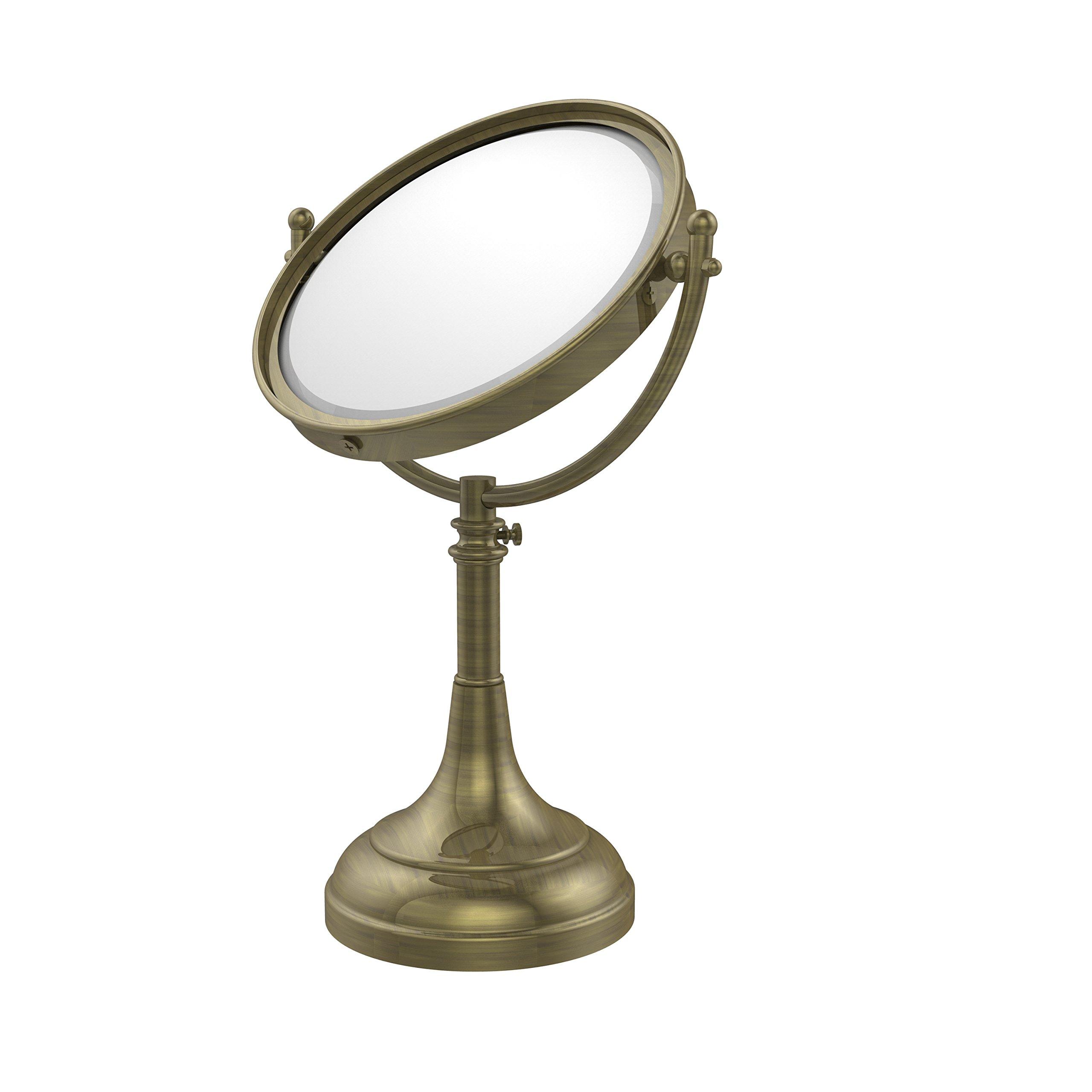Allied Brass 8'' Mirror 3x Mag 17-23-1/2'' H Antique Brass