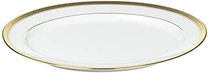 Amazon.com | Noritake Crestwood Gold Oval Platter, 14-inches: Platters