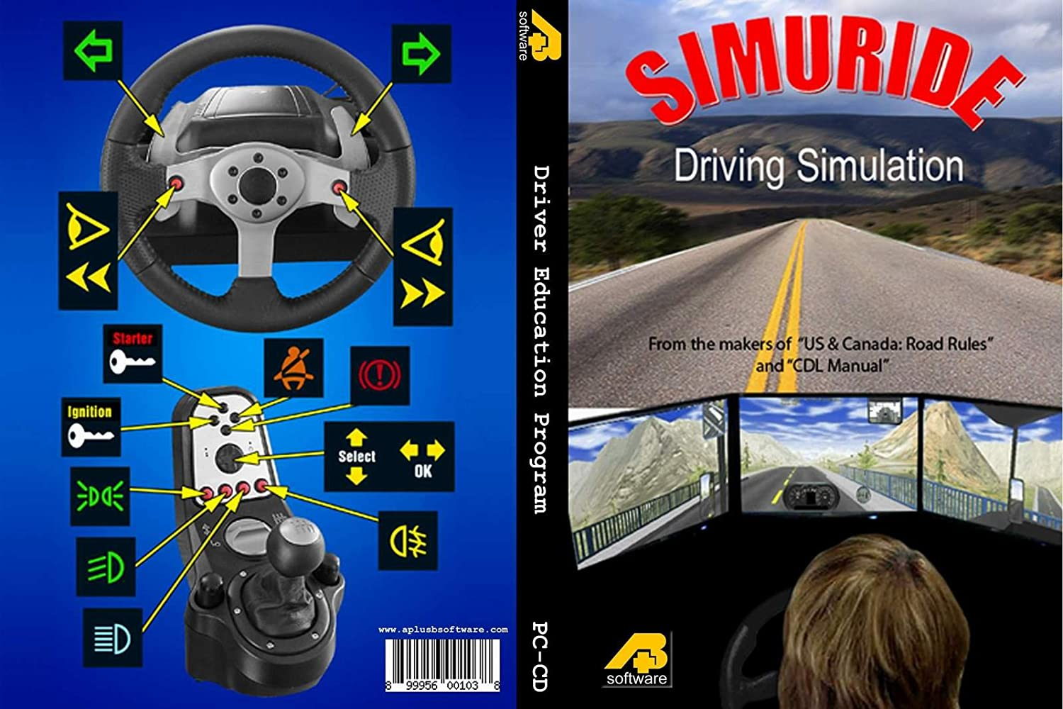 Amazon.com: Driving Simulator - SIMURIDE for car/bus/truck manual/automatic  transmission: Video Games