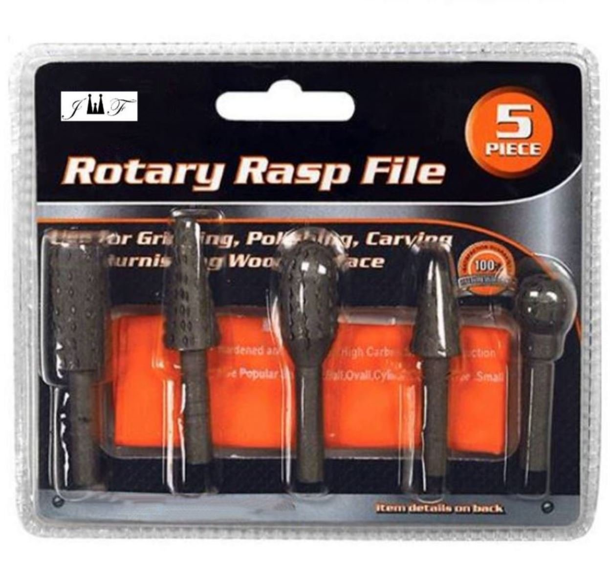Rotary Burr Set 5 Piece Set Of Heavy Duty And Durable 1//4 Shank Rotary Rasp File Set Small Tree Grinding Cylinder Large Tree Polishing Ball Carving Oval Wood Carving Trimming
