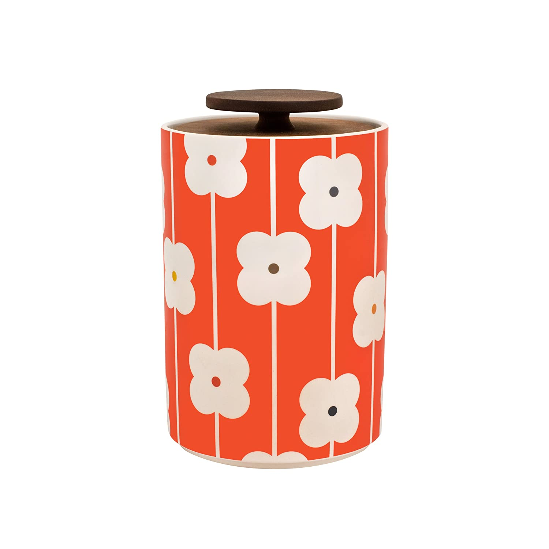 Amazoncom Orla Kiely Abacus Flower Storage Jar Red 2l Kitchen