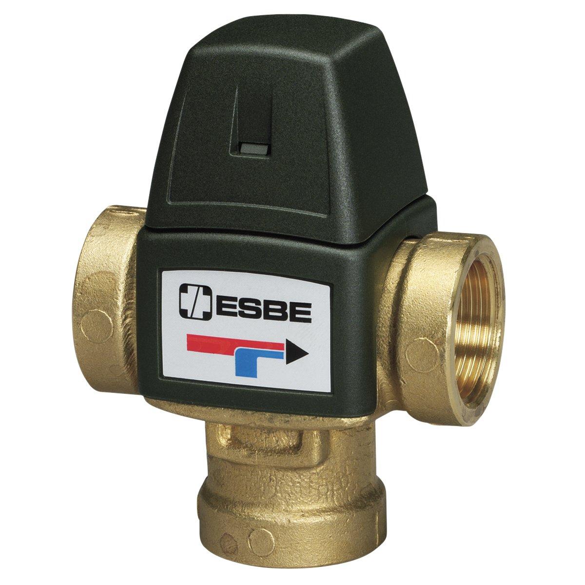 Esbe; Válvula mezcladora termostática para calefacción y ACS, serie VTA 320 (más opciones click: aquí) campo de regulación de 35 a 60ºC, con roscas 1/2' hembra con roscas 1/2 hembra