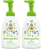 Babyganics Dish Dazzler Foaming Dish and Bottle Soap, Fragrance Free, 16 Fluid Ounce, Pack of 2