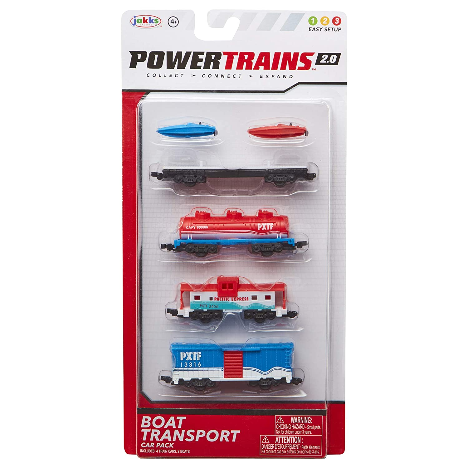 Amazon com: Power Trains Water Boat Transport 4-Car Pack