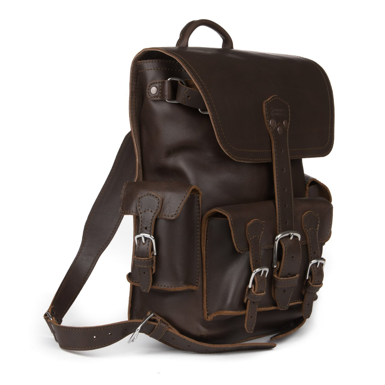 4e55cb30a3 Thin Front Pocket Full Grain Leather Laptop Computer Backpack School  Business Travel Includes 100 Year Warranty  Computers   Accessories