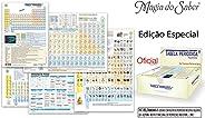 Magia do Saber 51905, Tabela Periódica, 5 Modelos e Fotos dos Elementos, Multicolor, pacote de 15