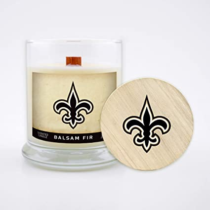 Balsam Fir Worthy Promo NFL Dallas Cowboys Gifts 8oz Scented Candle Soy Wax w//Wood Wick and Lid
