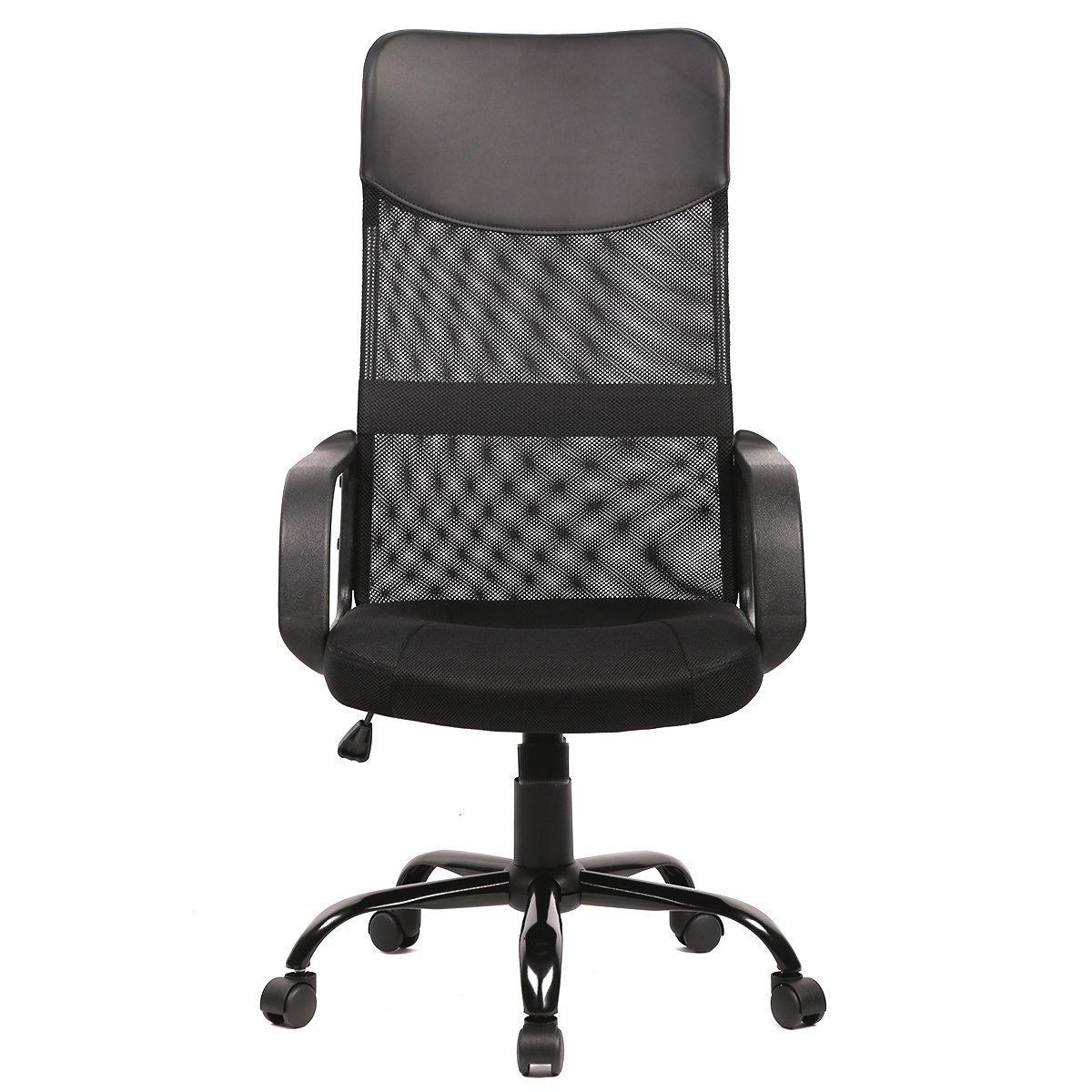 Amazon.com: BestOffice Mid Back Mesh Ergonomic Computer Desk Office Chair,  Black: Kitchen U0026 Dining