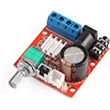 12 Volt Amplifier Board, DROK PAM8610 Mini Stereo AMP 10W+10W Digital Audio Amplify