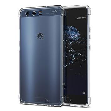 OMOTON Huawei P10 Funda,Compacta Carcasa,Suave TPU y Durable PC,Amortiguación,Anti-arañazos,Huawei P10 Carcasa,Transparencia
