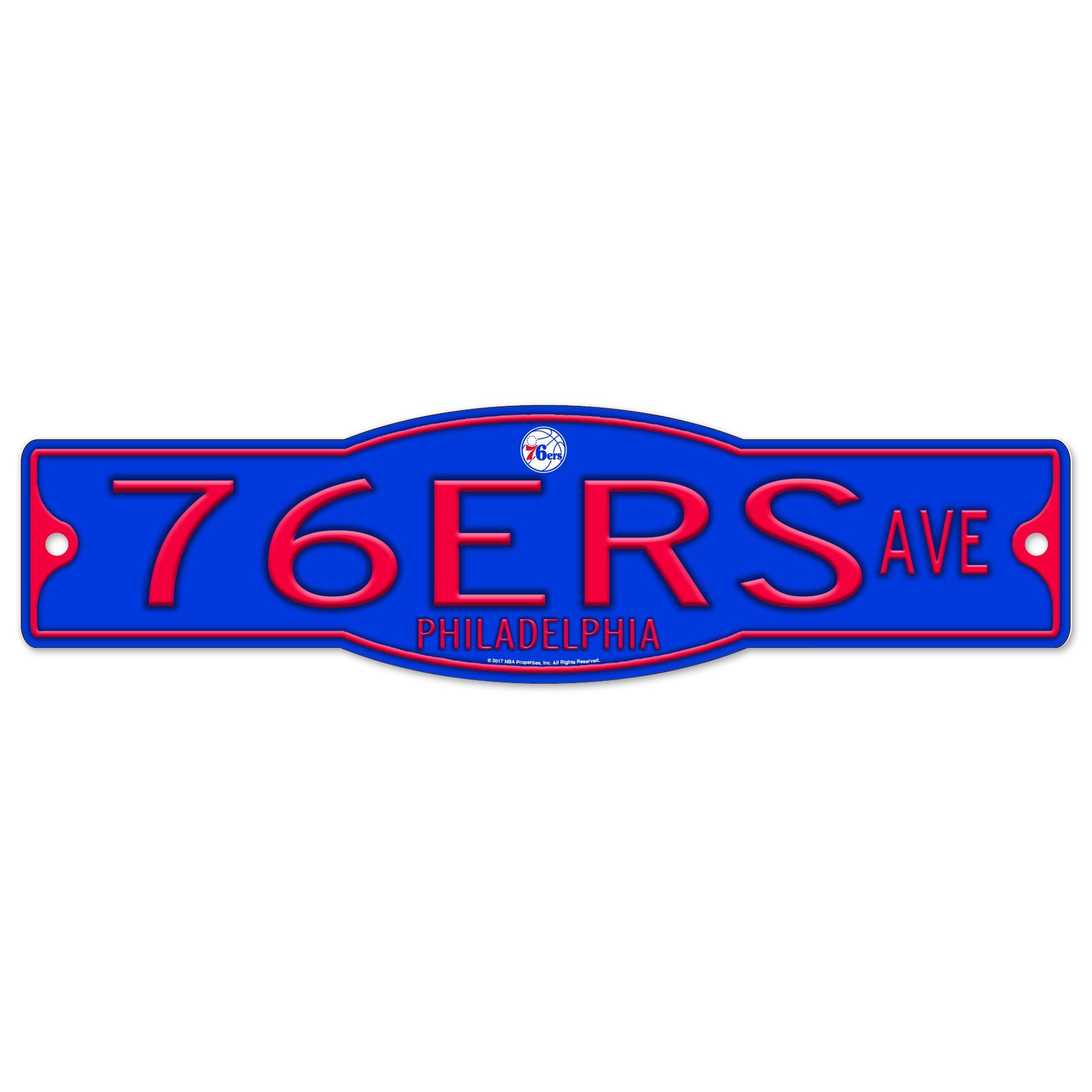 Philadelphia 76ers NBA Basketball Plastic 4 x 17 Street Sign