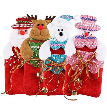 christmas gift bags ifoyo 4 pack cartoon hanging christmas gift bags small christmas tree decorations - Candy Christmas Tree Decorations