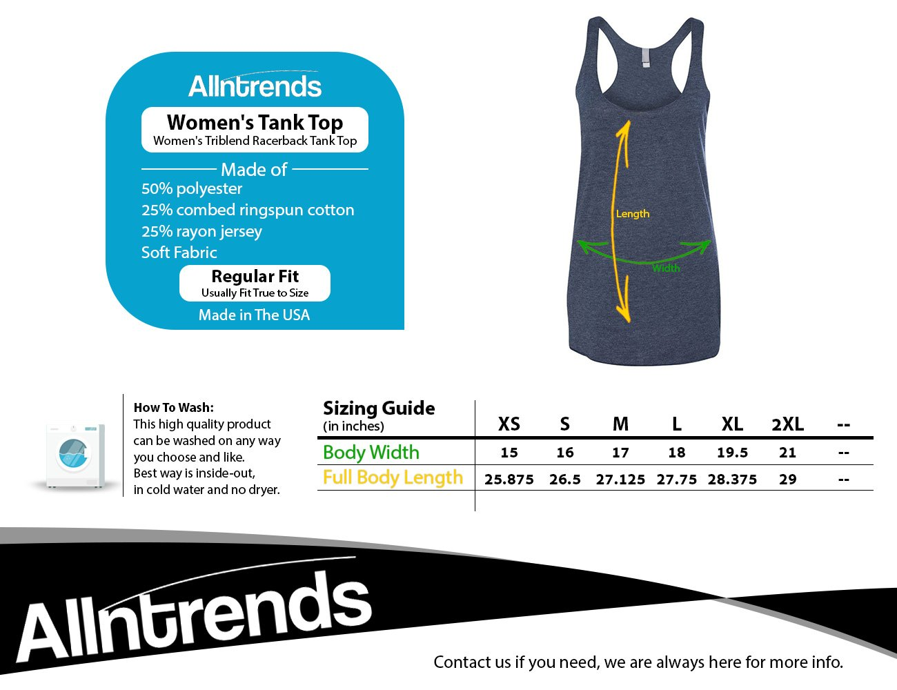 Allntrends Women's Tank Top Shut Up Liver You're Fine Alcohol Hangover Top (XL, Vintage Navy) by Allntrends (Image #2)