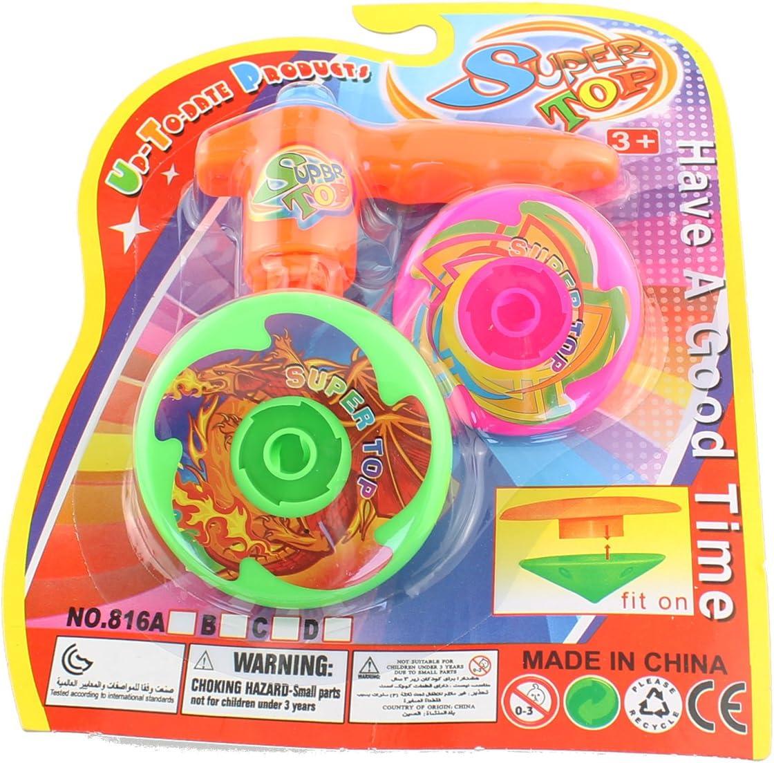 peonzas abschi Esser Juego 3. Piezas Super Spinning Multicolor Top obsequios: Amazon.es: Coche y moto