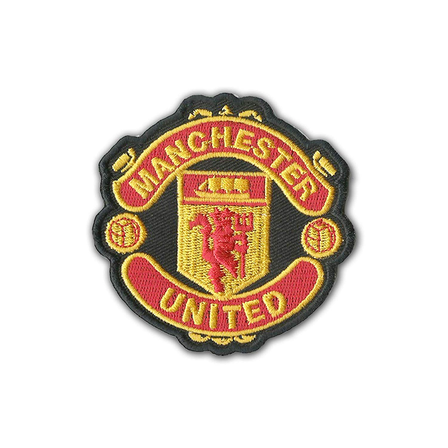 Manchester United MUFC Man U Embroidered Sew On Iron Embroidered Patch 3'' Logo Sew Ironed On Badge Embroidery Applique Patch by KHC