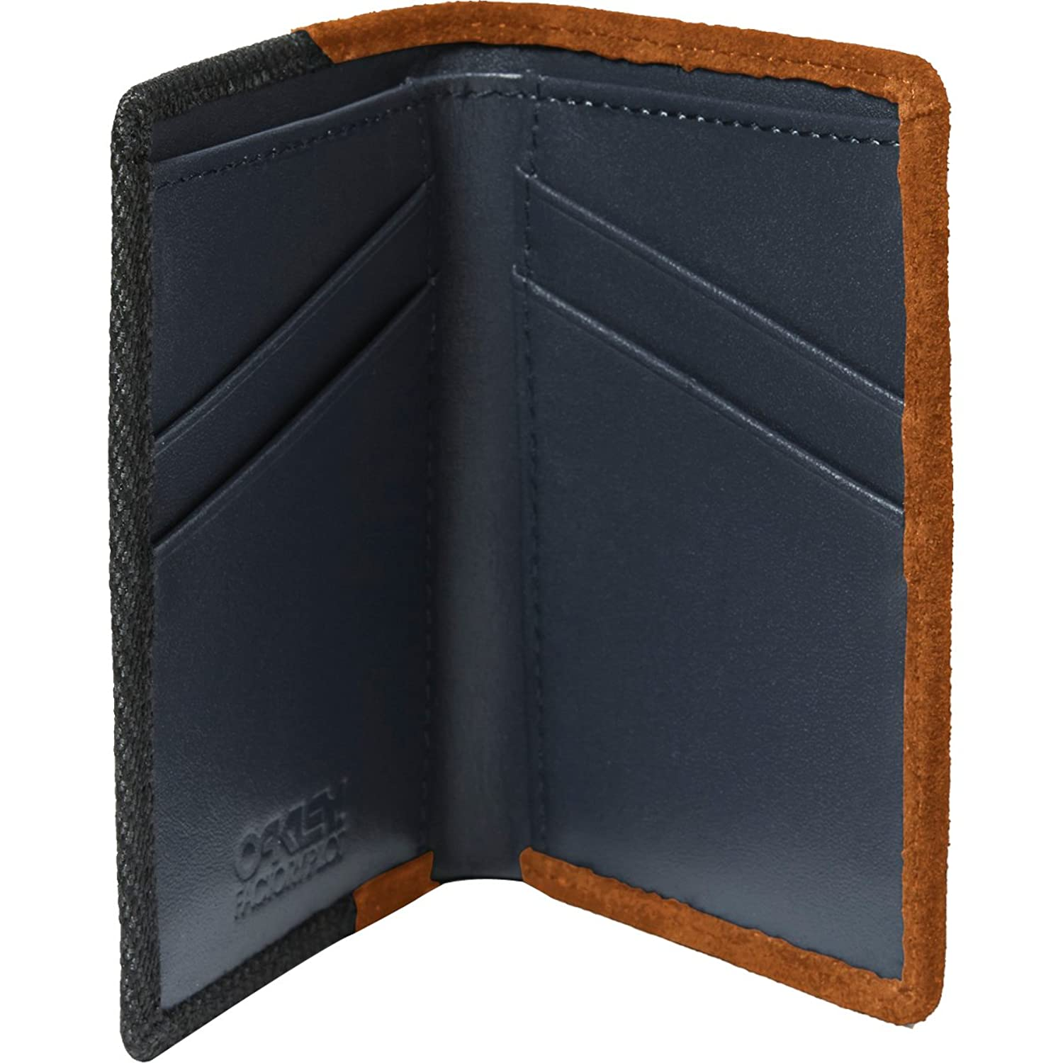 Oakley Mens Factory Pilot Leather Wallet One Size Jet Black at ...