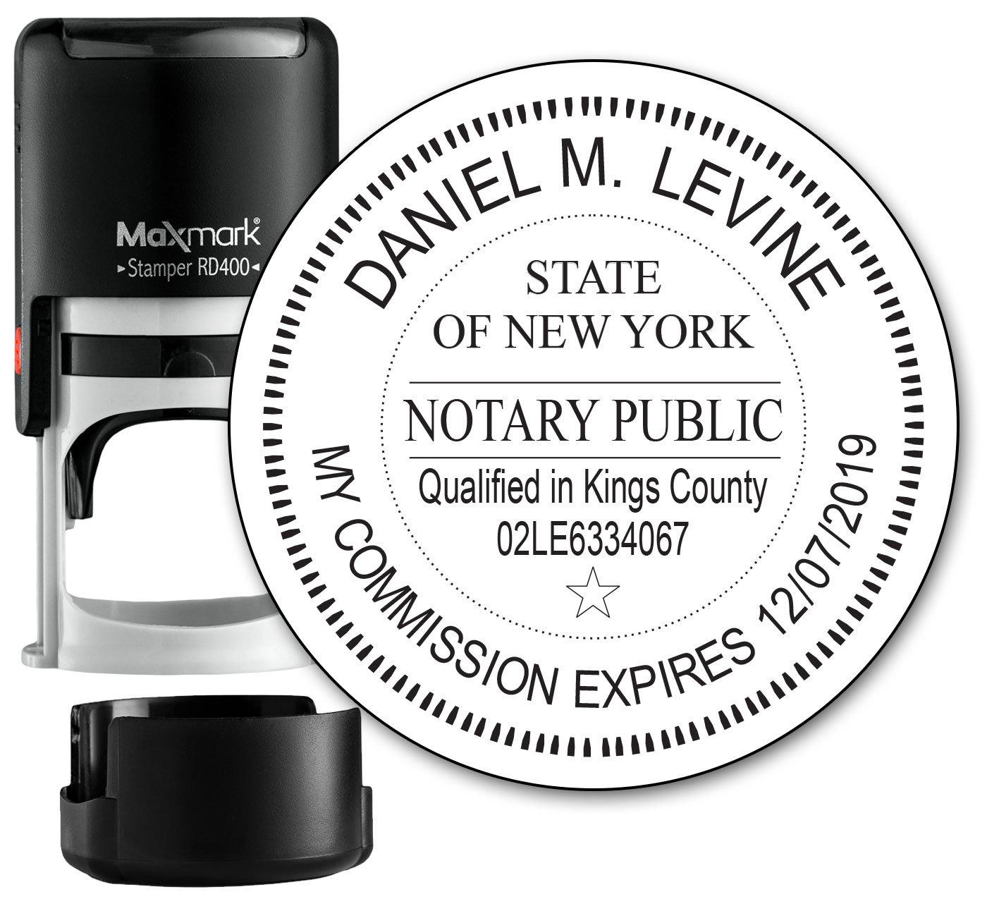 Durable Service Round Notary Stamp For State Of New York