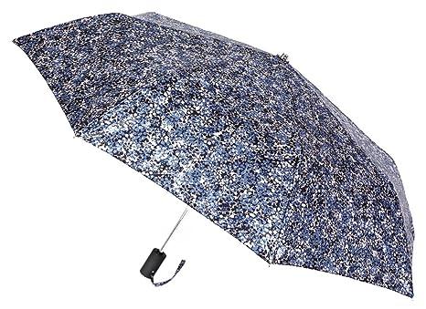 Elegante y Sofisticado Paraguas VOGUE Abre Cierra automático Bonito Raso Estampado. Antiviento y con Acabado