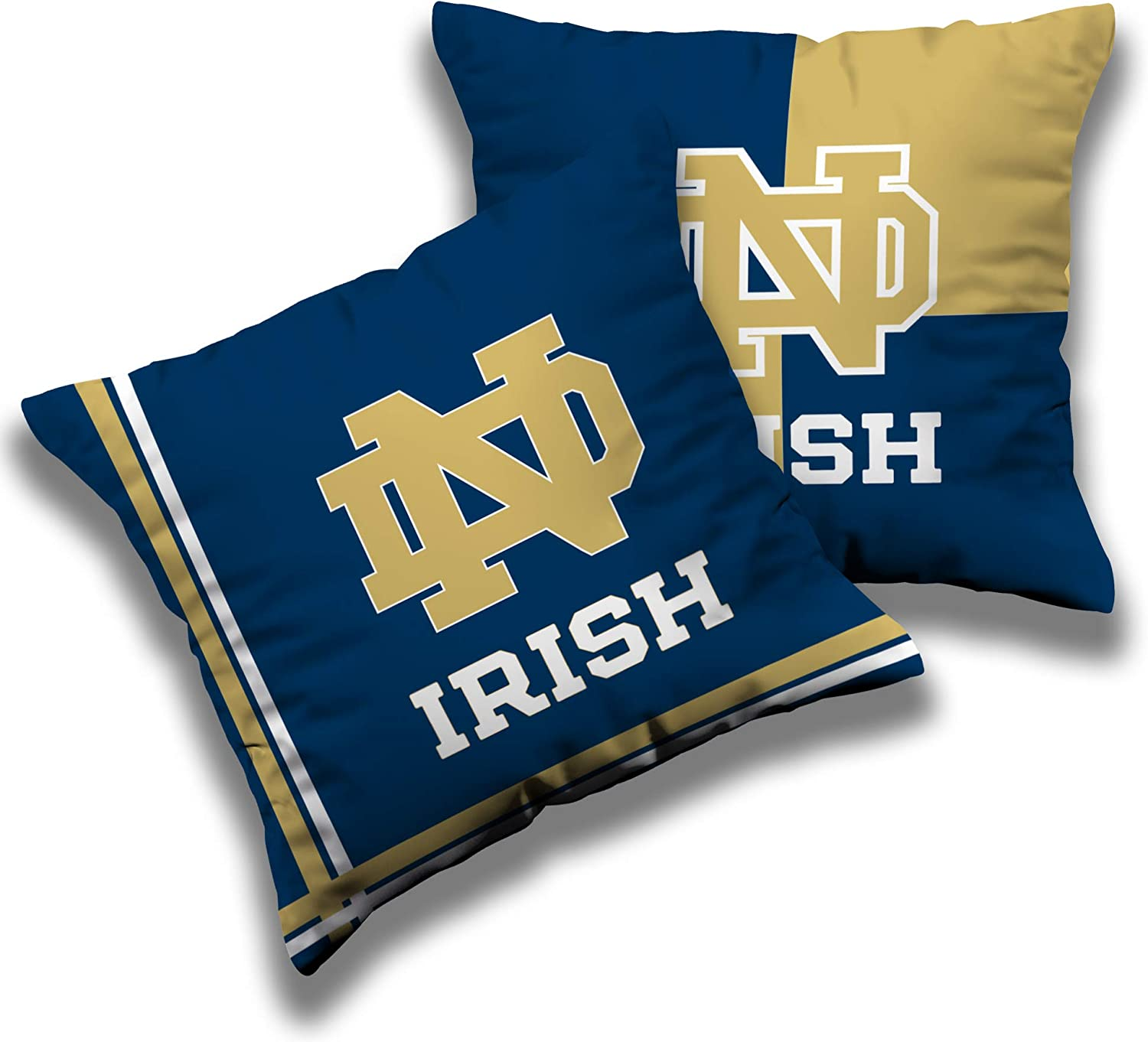 Weming Sports Fans Throw Pillow Cover Home Sofa Decor Collegiate Team Logo Pillowcase Protecter with Zipper 18''×18''