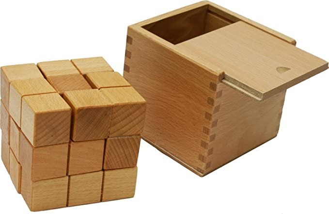 Toys of Wood Oxford Large Wooden Soma Cube Puzzle - Brainteaser Puzzle