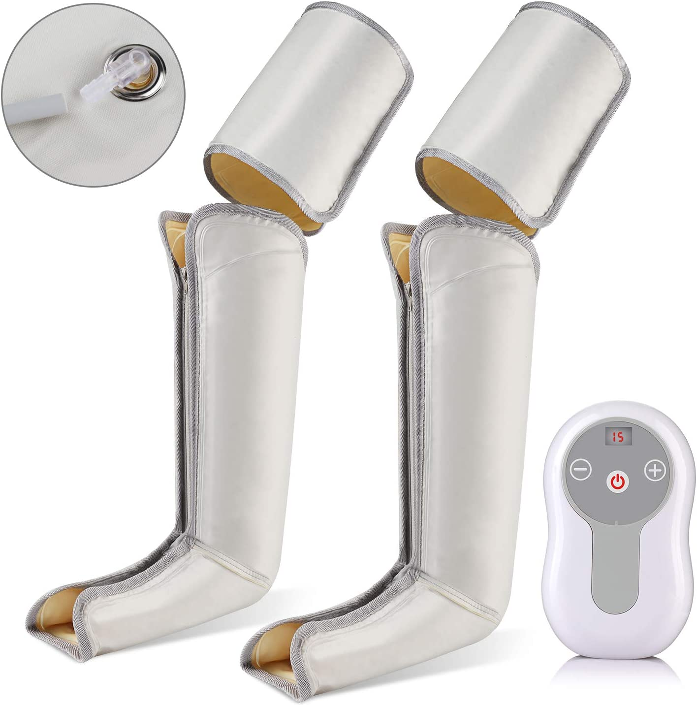 Maquina de Presoterapia Profesional Completa, Vinmori Presoterapia para Casa Masajeador de Pies y Piernas con Compresión 9 Niveles de Intensidad Masaje de Presión por Aire