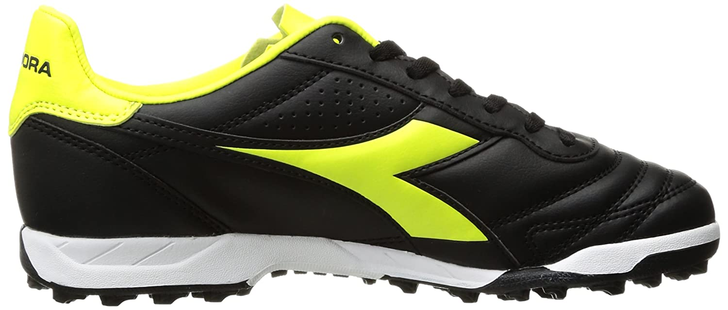 Diadora Brasil R MD Soccer Cleat(Children's) -Black/Yellow Flou Recommend Online eL7qiz06De