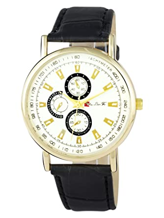 Addic Bold and Beautiful Analogue Multicolour Dial Black and Gold Strap Womens Watch