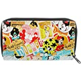 Disney Parks Exclusive Mickey Classic Collage Pattern Zip Clutch Wallet
