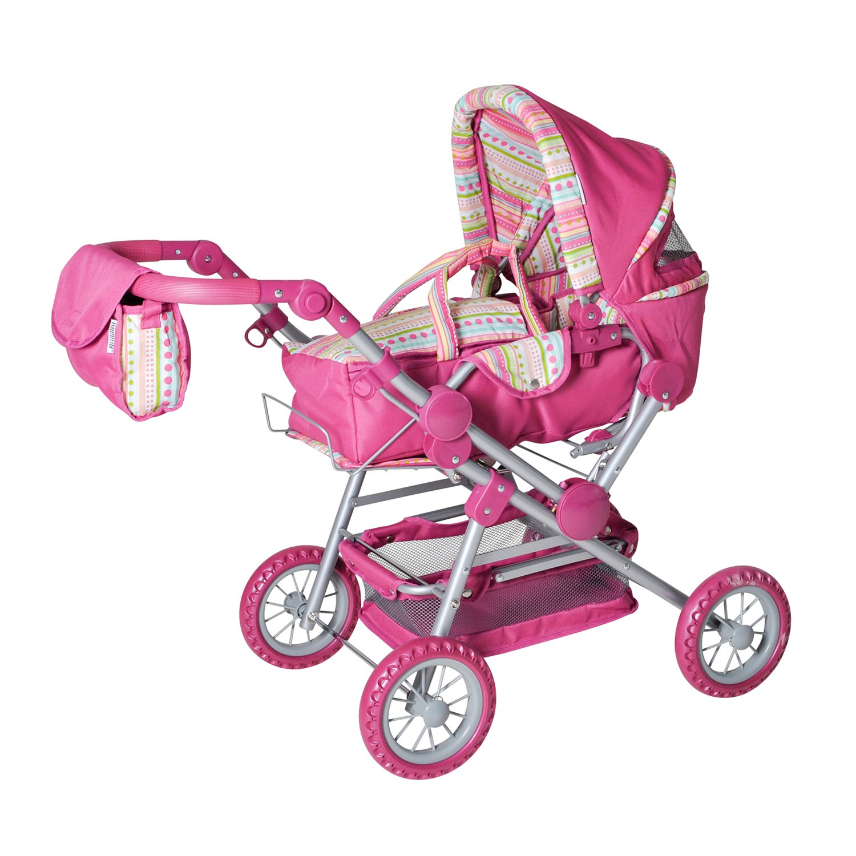 Knorrtoys 10838 knoortoys Doll Carriage Twingo S-Pink Stripe KNORRTOYS.COM GmbH knoortoys_10838
