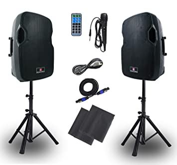 Amazon.com: FBM-PA - Altavoz portátil para DJ con tarjeta SD ...