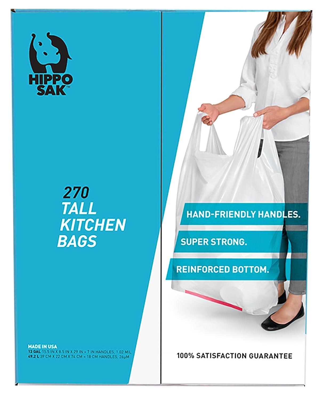 Amazon.com: Handle Trash Bag, Hippo Sak with Power Strip, 13 Gallon ...