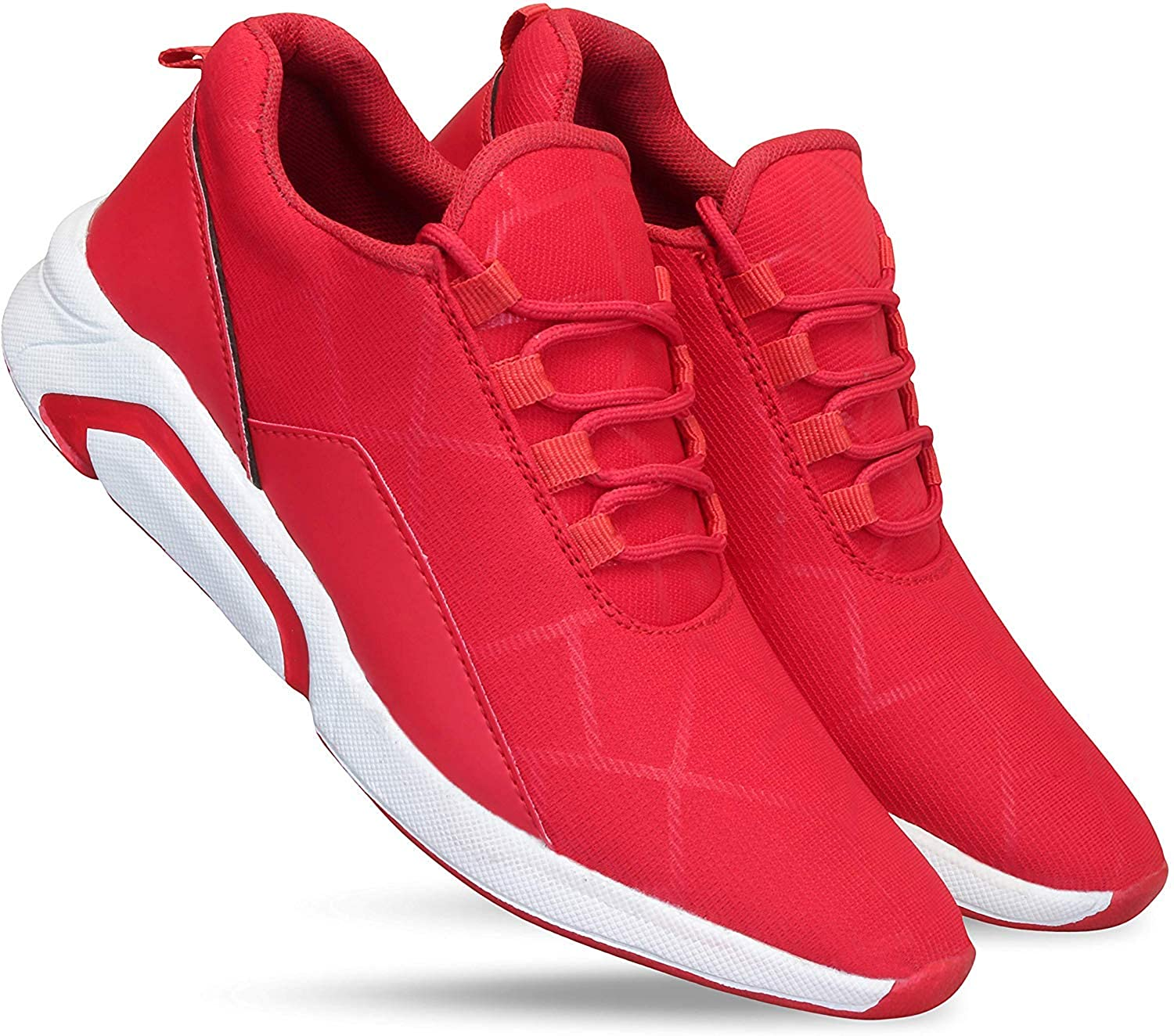 red casual sneakers