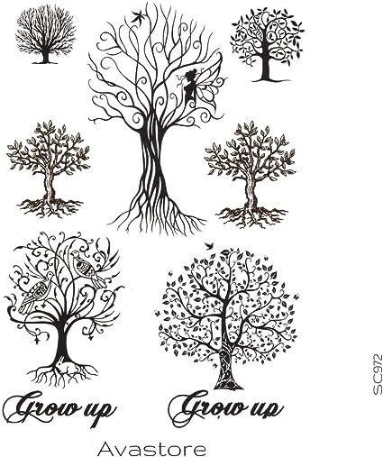 Tatuaje Temporal Mujer Árbol de Vida Espiritual tatuaje efímero ...