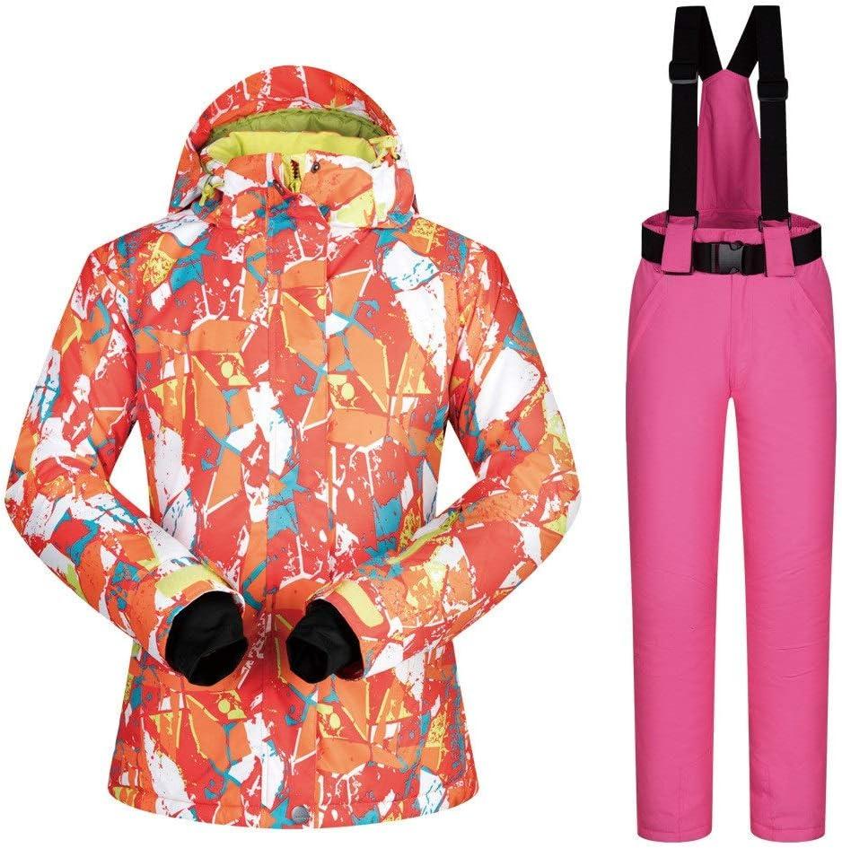 レディーススキースーツ スノーシューズ女性のスーツ暖かく防風通気性のスキースーツ スキー休暇用 (色 : Powder pants, サイズ : XXL) Powder pants XX-Large