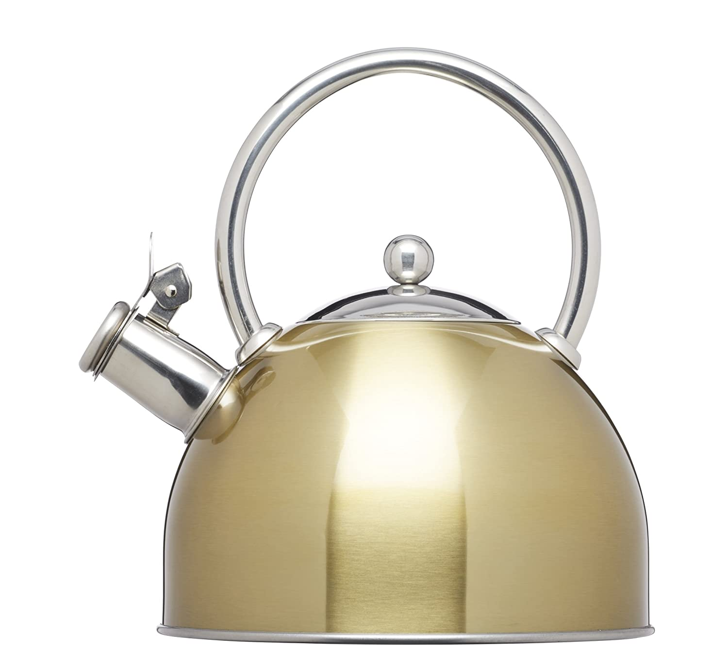 Kitchencraft Le'xpress Induction-Safe Stove-top Whistling Kettle, 1.8 L - Brass KCLXKETBRS