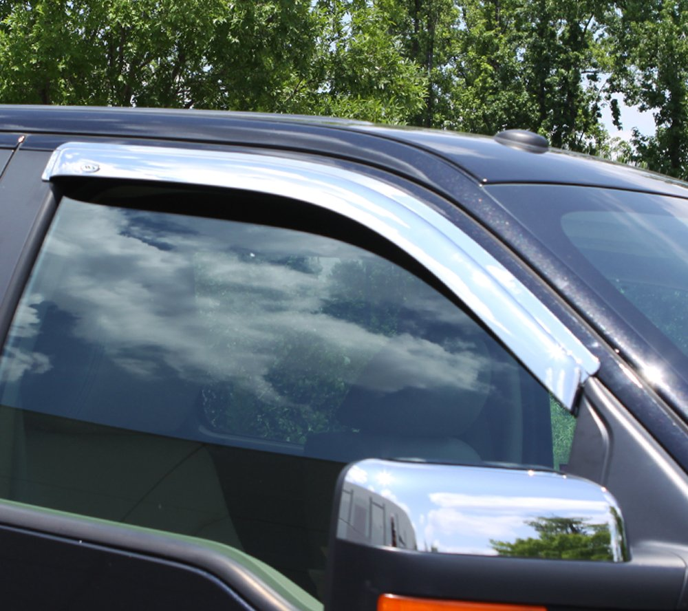Auto Ventshade 682754 Chrome Ventvisor Side Window Deflector 2-Piece Set for 1997-2003 Ford F-150 F-250 with Standard Cab