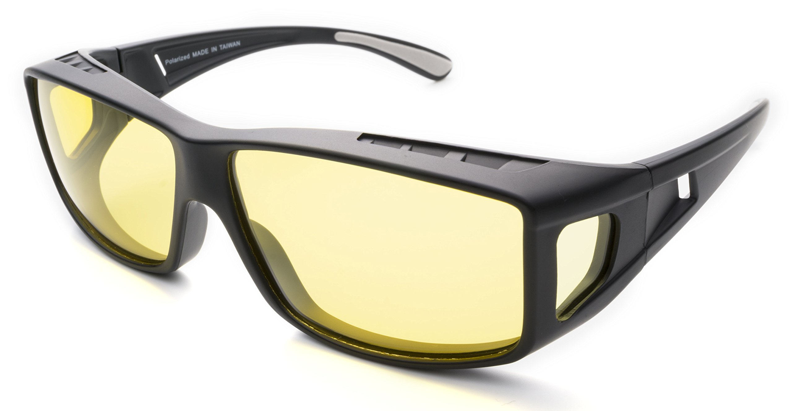 Fitover Night Driving Glasses (Charcoal, Yellow) by Mr.O (Image #1)